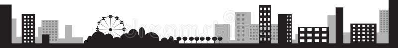 城市例证剪影向量 向量例证