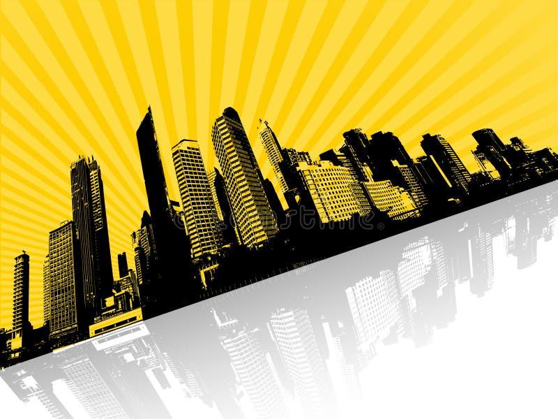 城市例证向量 库存例证