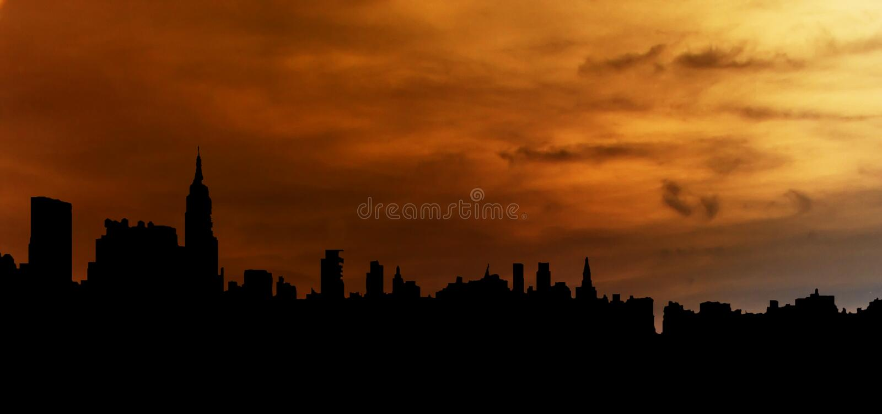 城市例证地平线 库存照片