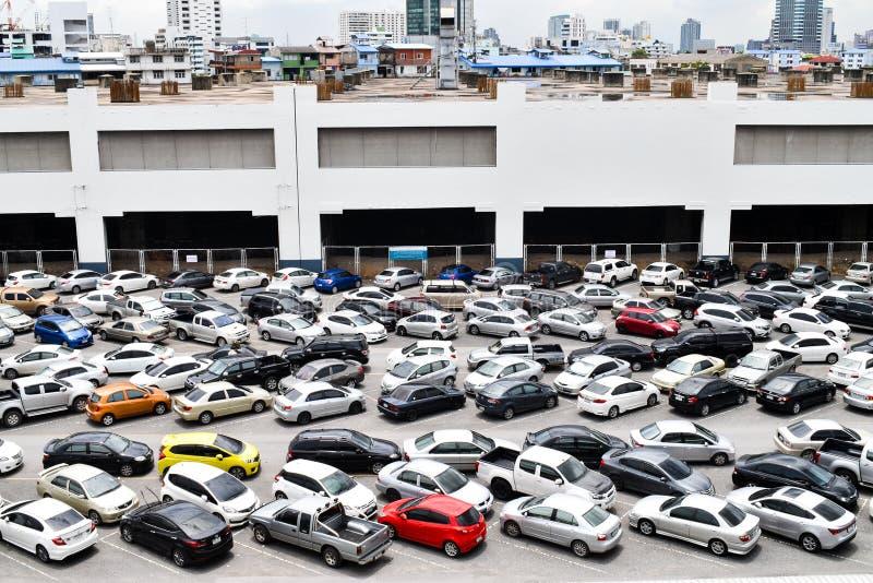 城市停车场在泰国 免版税图库摄影