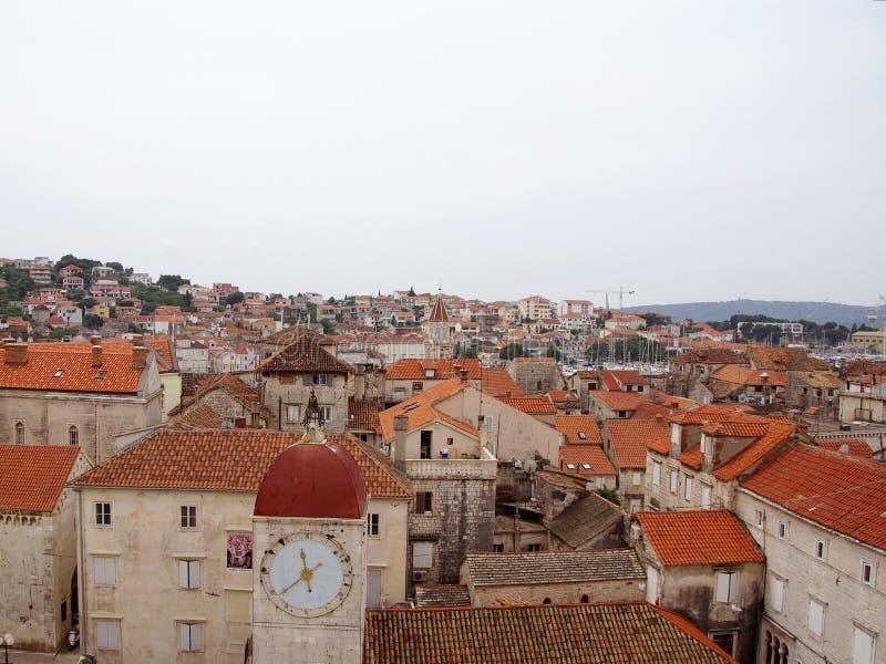 城市克罗地亚有历史的trogir 库存图片