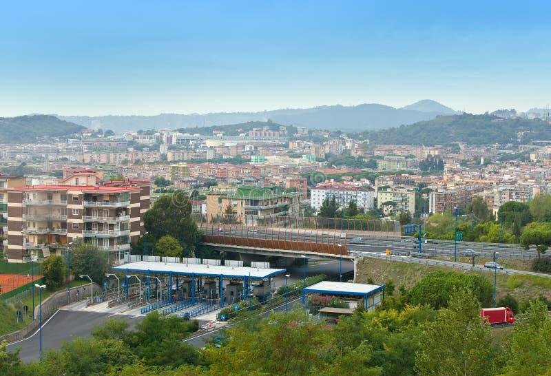 城市入口意大利线路那不勒斯 库存照片