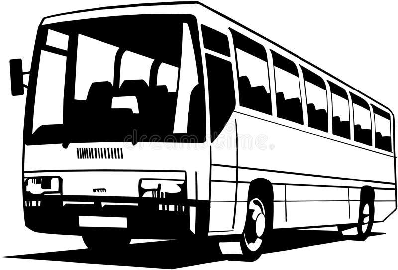 城市公共汽车动画片传染媒介Clipart 向量例证