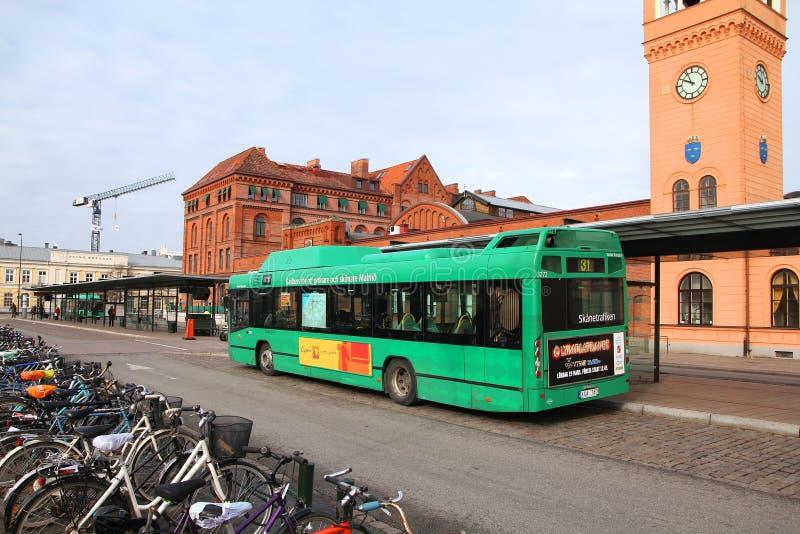 城市公共汽车在瑞典 免版税库存图片