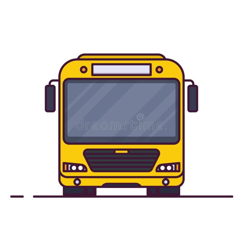 城市公共汽车正面图  库存例证