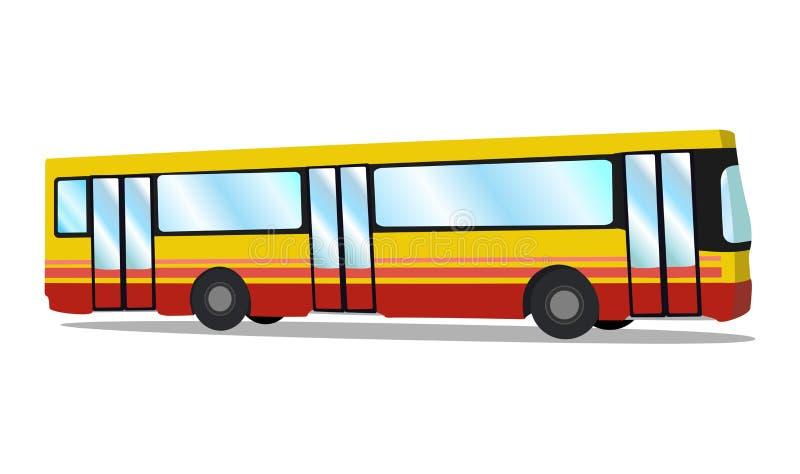 城市公共汽车 旅游教练 也corel凹道例证向量 免版税图库摄影