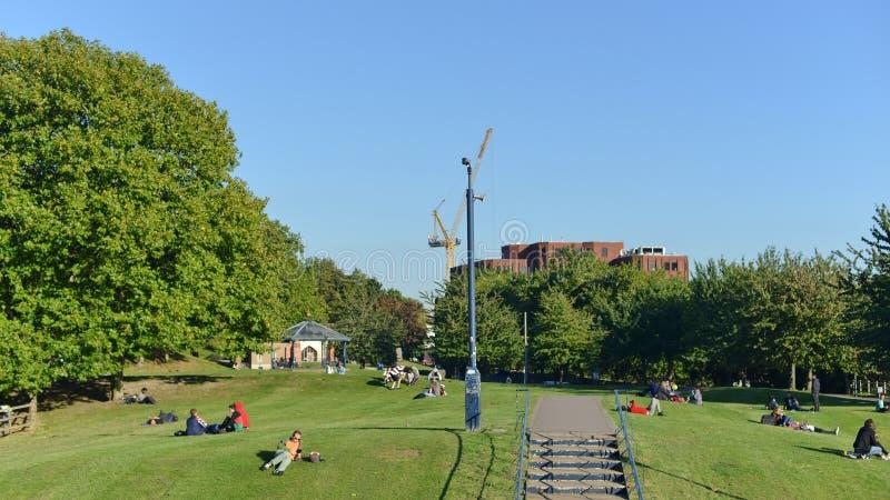 城市公园方式 库存照片