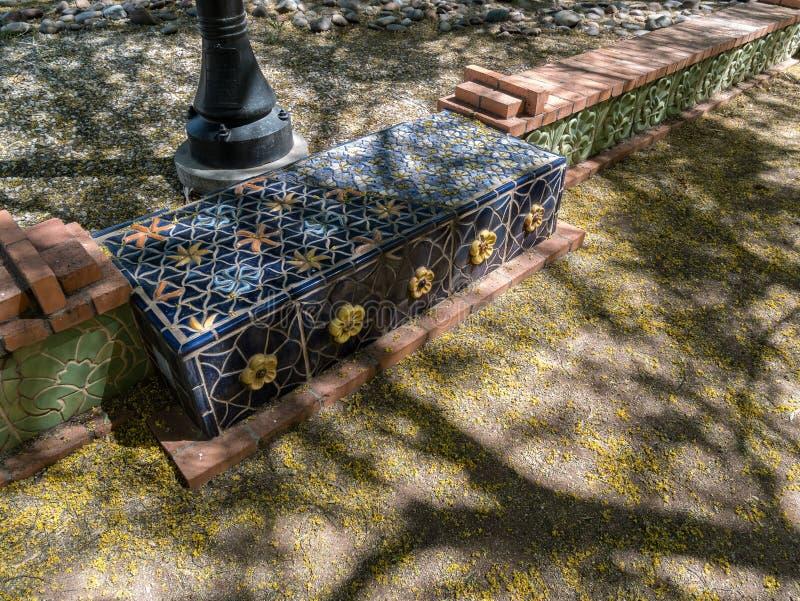 城市公园细节,图森,亚利桑那 库存照片