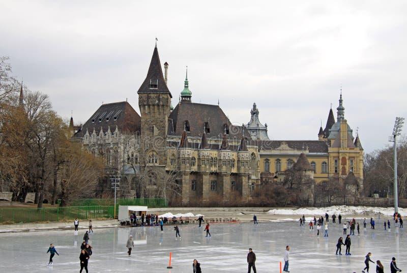 城市公园滑冰场,布达佩斯,匈牙利 库存图片