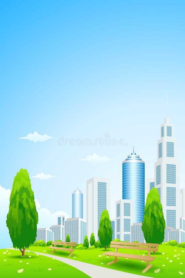 城市公园 向量例证