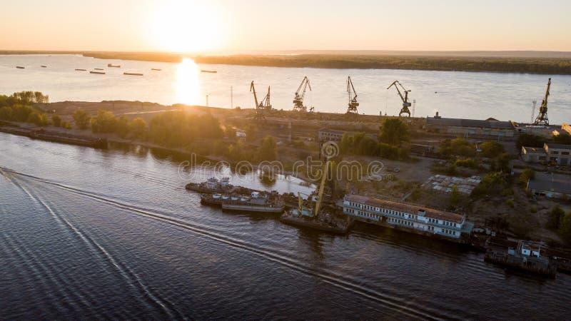 城市内河港 免版税库存图片