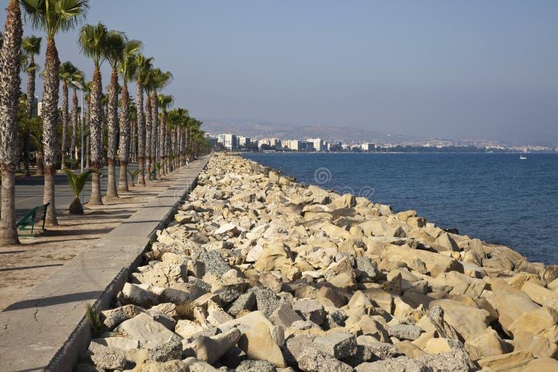 城市利马索尔线路海运 免版税库存图片