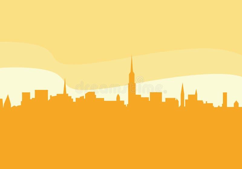 城市剪影向量 向量例证