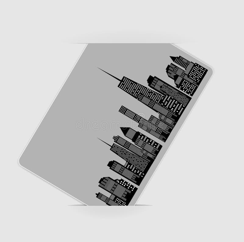 城市剪影的向量例证。 EPS 10。 免版税库存图片