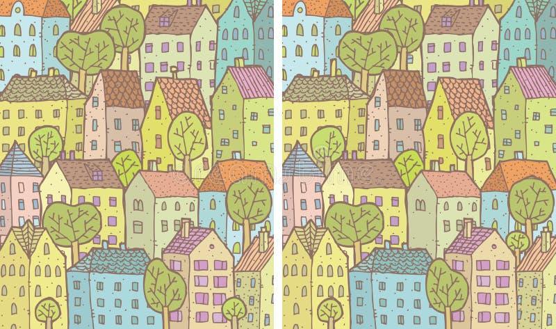 城市区别视觉比赛 向量例证