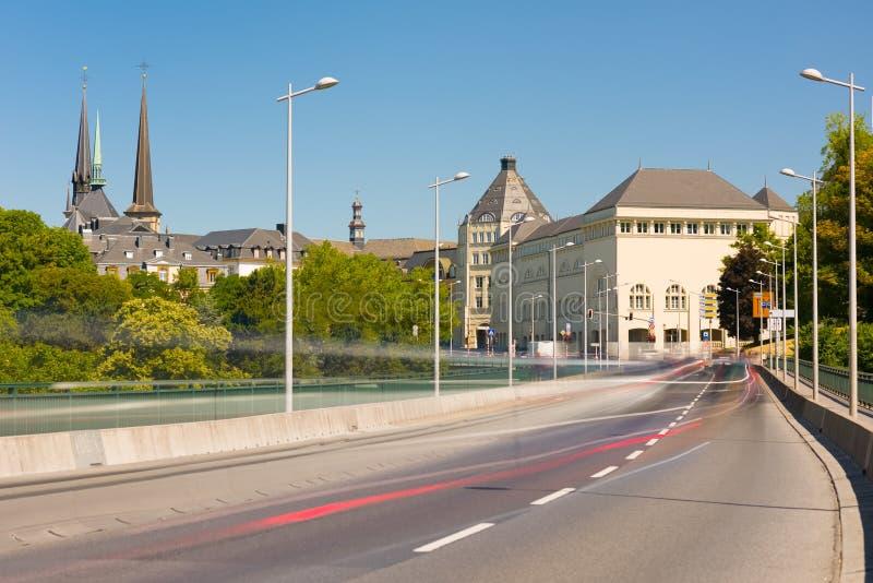 城市卢森堡查看 免版税库存照片