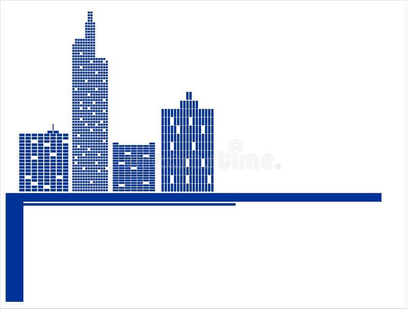 城市向量 向量例证