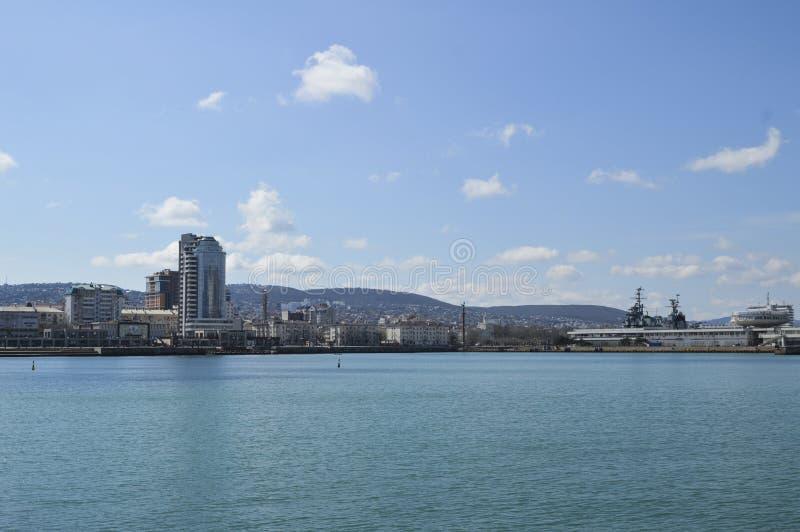城市和海运 免版税库存照片