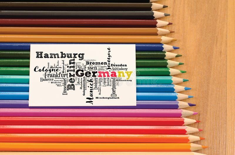 城市和镇名单在德国 免版税库存照片