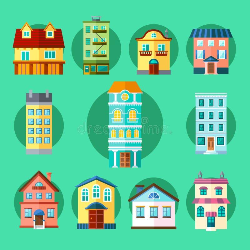 城市和镇大厦 免版税库存照片