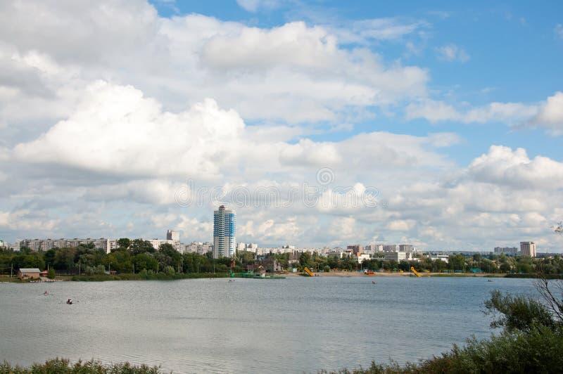 城市哈尔科夫河 免版税图库摄影