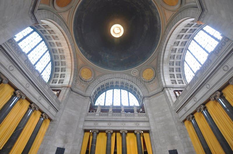 城市哥伦比亚图书馆新的大学约克 免版税库存图片