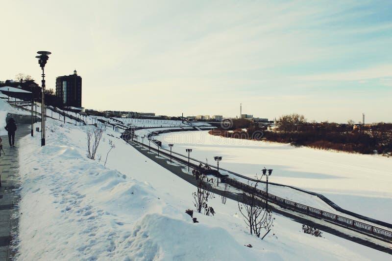 城市在俄罗斯 库存图片
