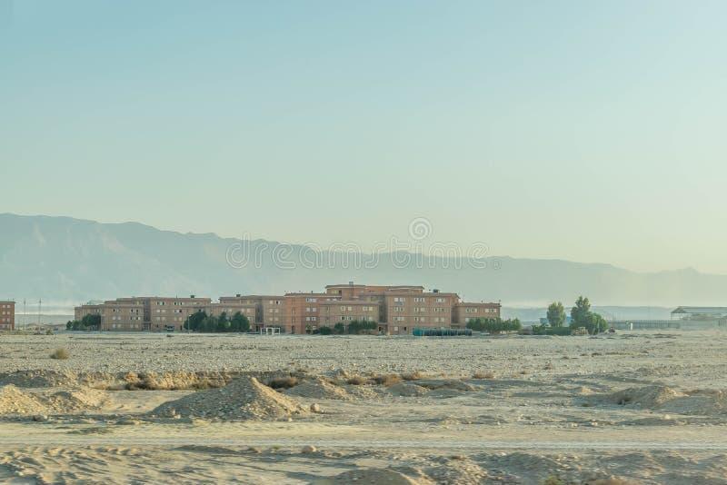城市在埃及沙漠 免版税库存照片