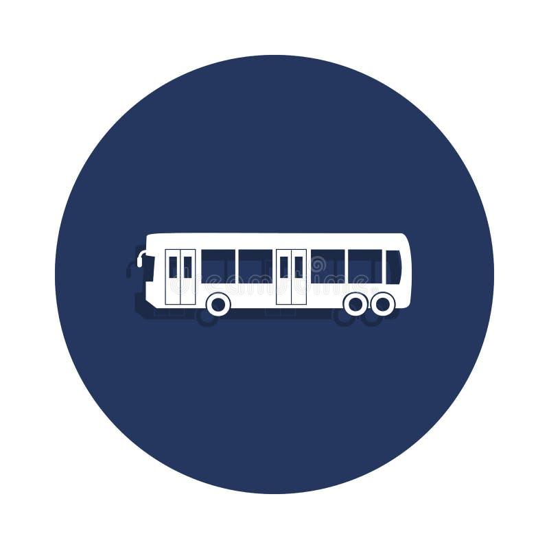 城市在徽章样式的公共汽车象 一汽车汇集象可以为UI, UX使用 向量例证