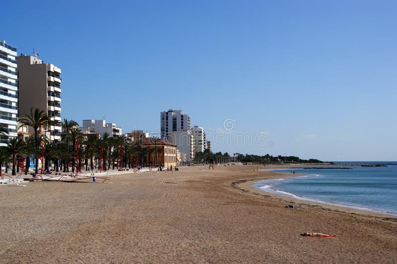 城市地中海西班牙vinaroz 库存图片