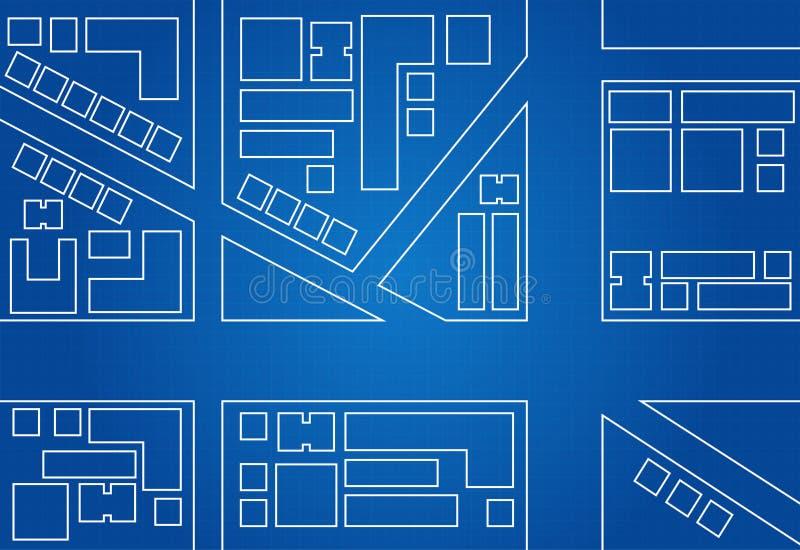 城市地图图纸  库存例证