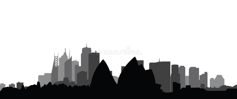 城市地平线悉尼向量 库存例证