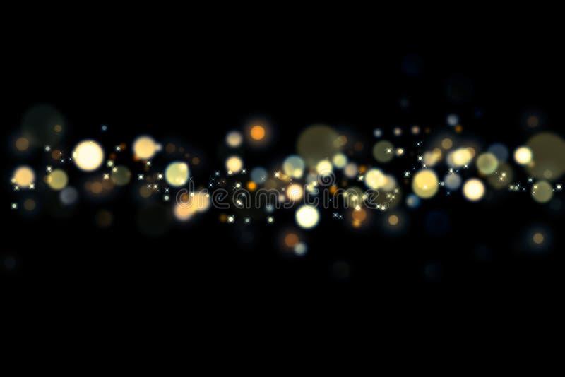 城市地平线抽象软的bokeh和光在夜间的 库存例证