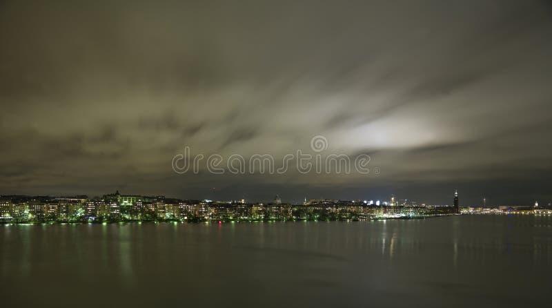 城市地平线斯德哥尔摩 免版税库存照片