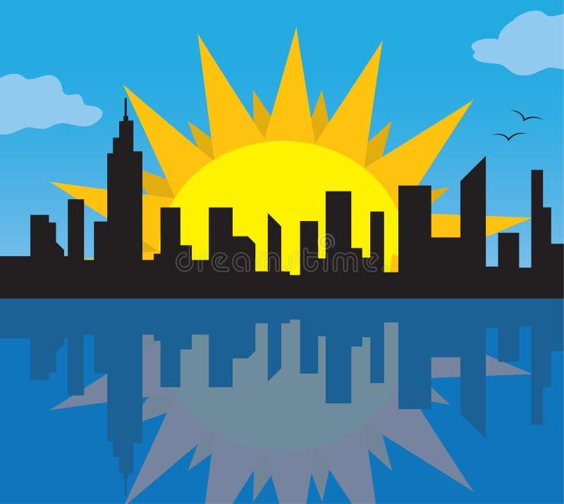 Download 城市地平线星期日 向量例证. 插画 包括有 摩天大楼, 约克, 旅行, 芝加哥, 都市风景, 向量, 城市 - 22353102