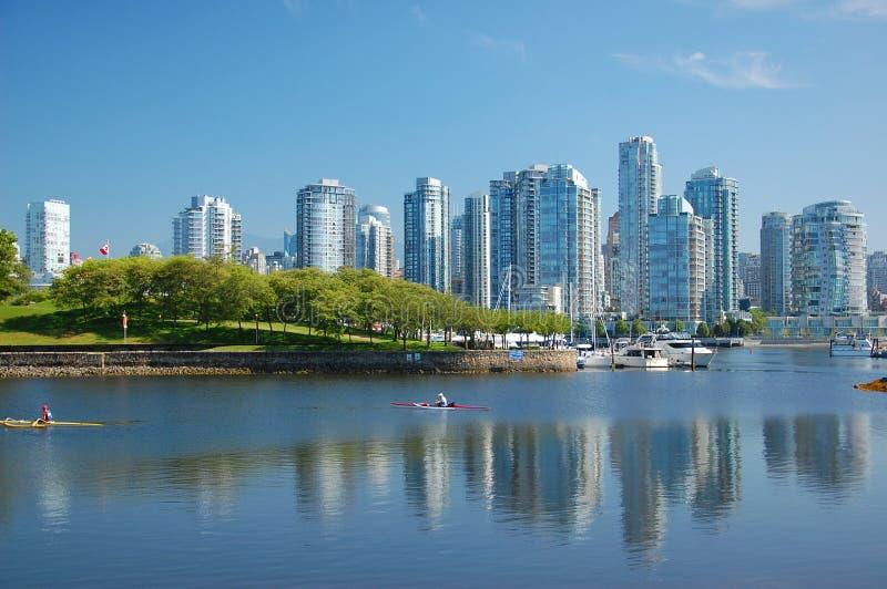 城市地平线温哥华 免版税库存图片