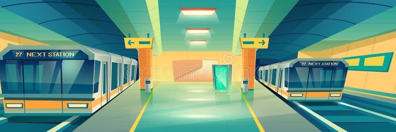 城市地铁傻事动画片传染媒介 库存例证