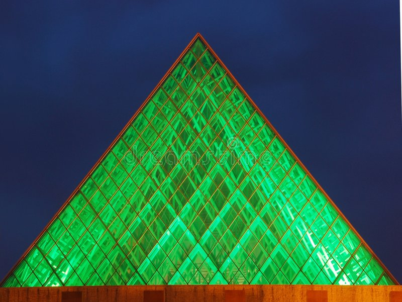 城市埃德蒙顿大厅晚上视图 库存照片