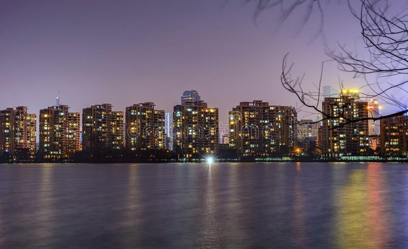 城市基辅晚上ukrain视图 免版税图库摄影