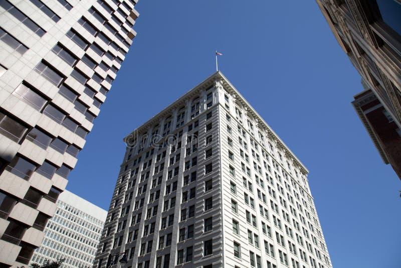 城市堪萨斯现代和历史建筑街市  免版税图库摄影