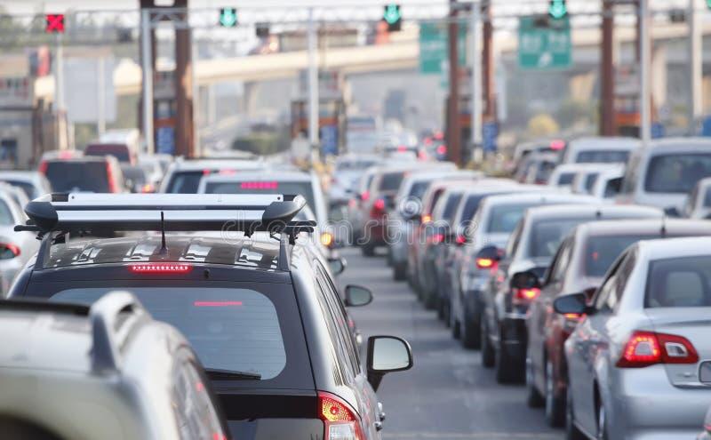 城市堵塞业务量 免版税库存图片