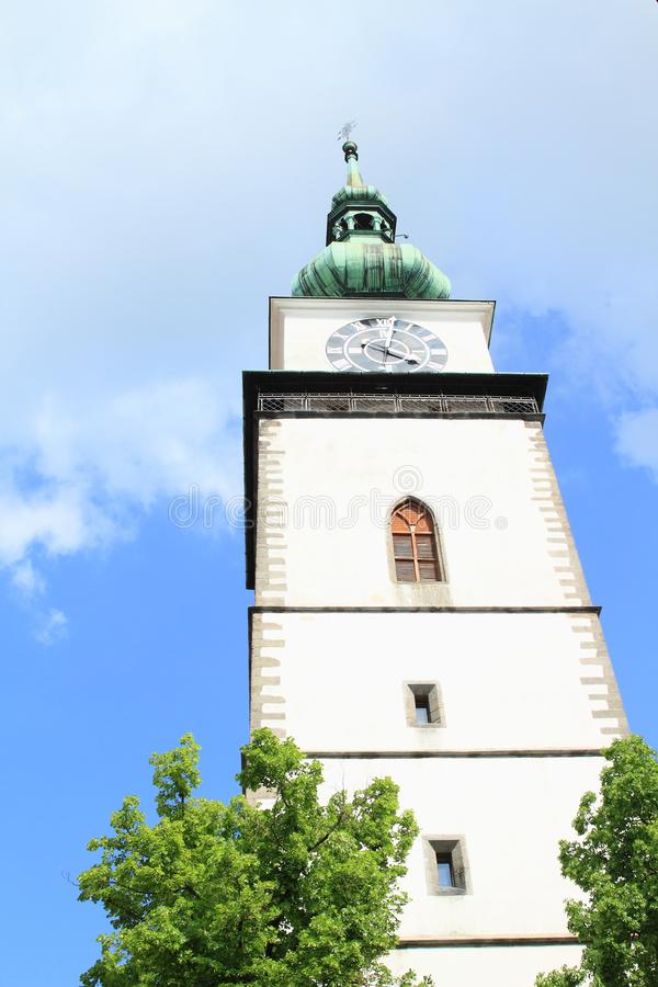 城市塔在特热比奇 免版税库存照片