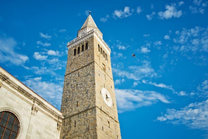 城市塔在科佩尔,斯洛文尼亚 免版税库存图片