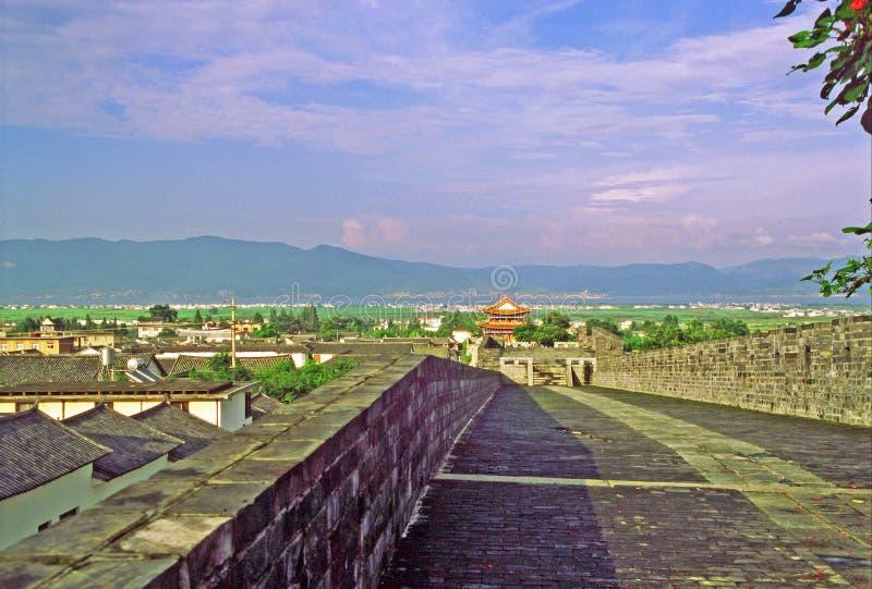 城市墙壁在大理,中国 库存图片