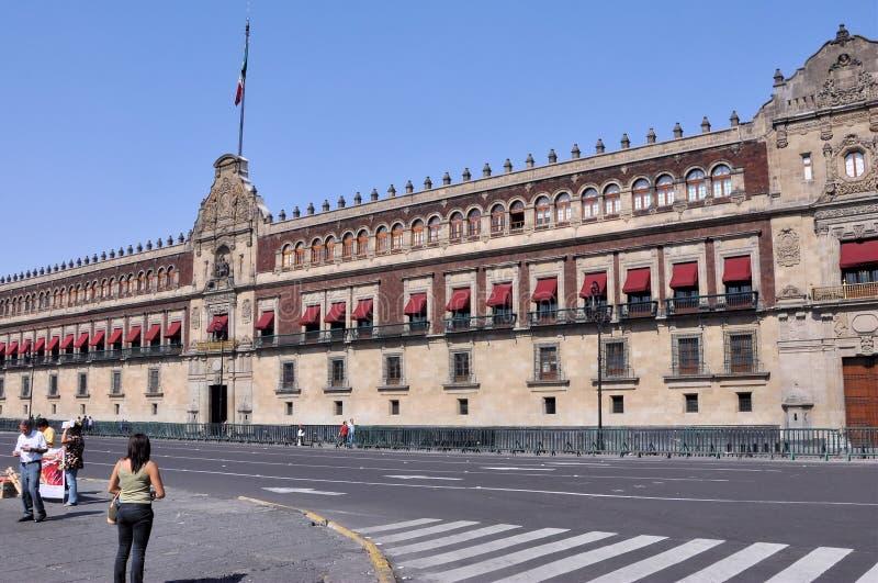 城市墨西哥国民宫殿 免版税图库摄影