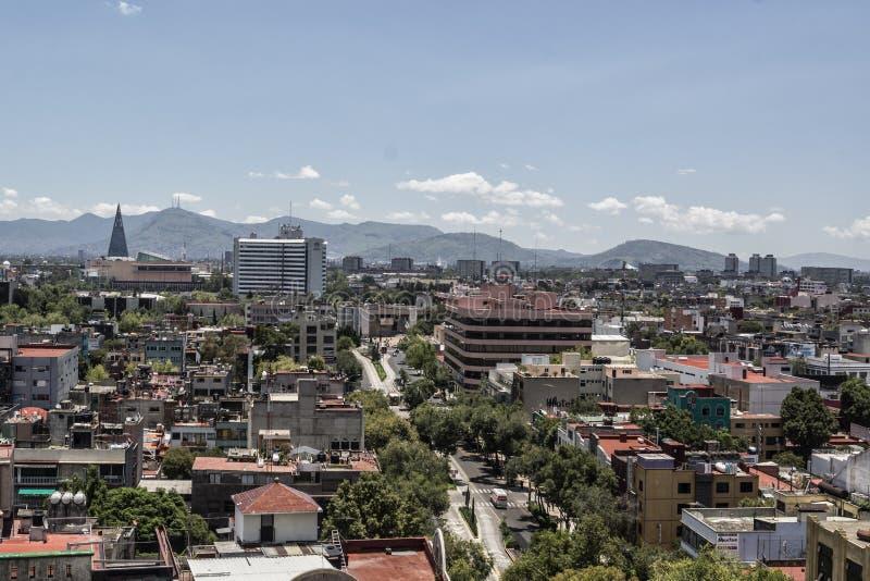 城市墨西哥视图 库存照片