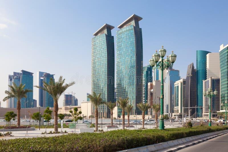 城市多哈卡塔尔 库存图片