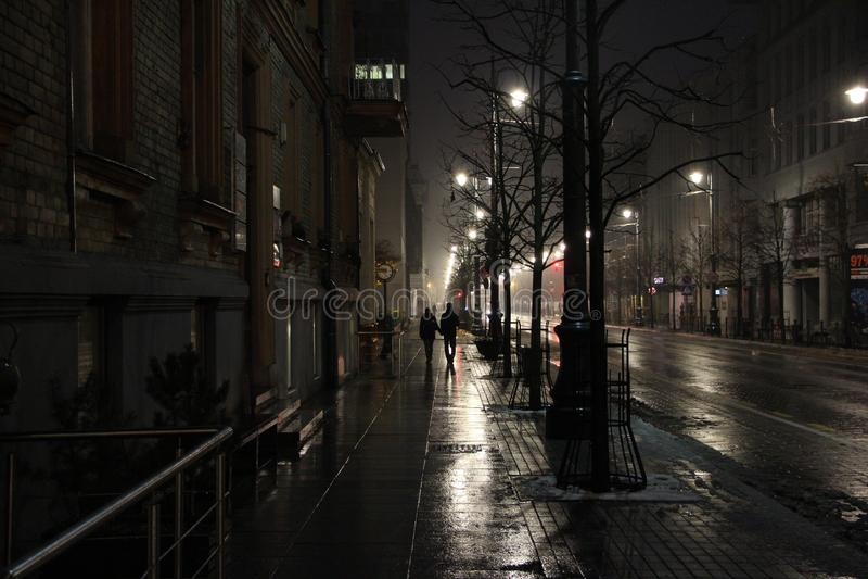 城市夜的光 免版税库存图片