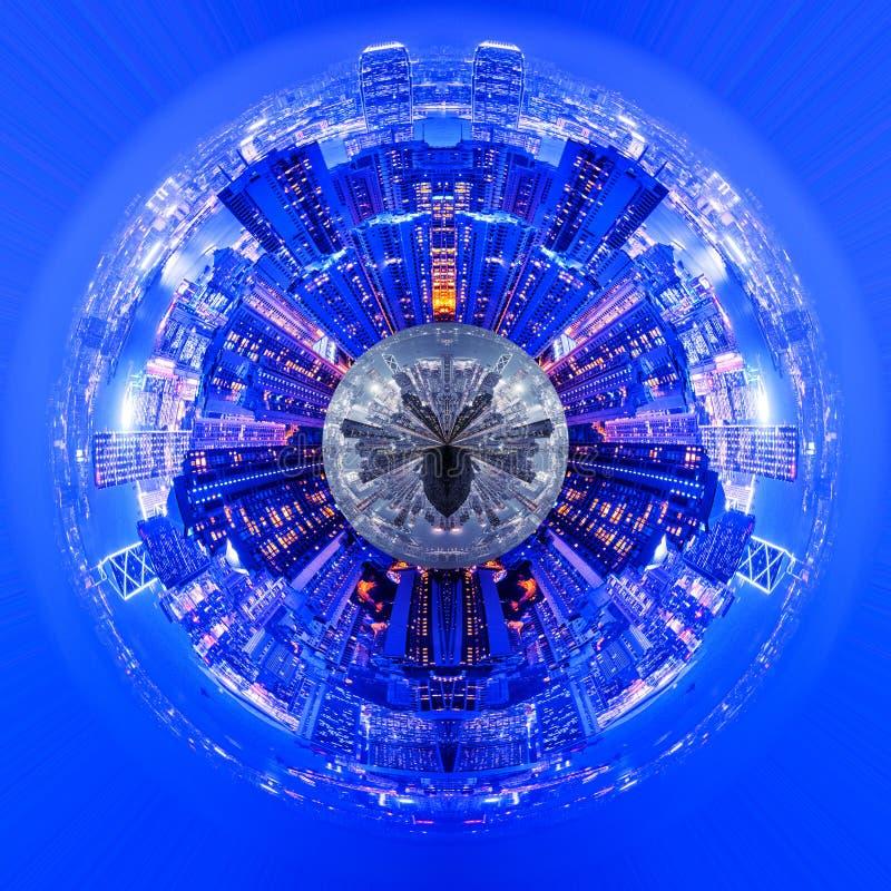 城市夜行星  向量例证