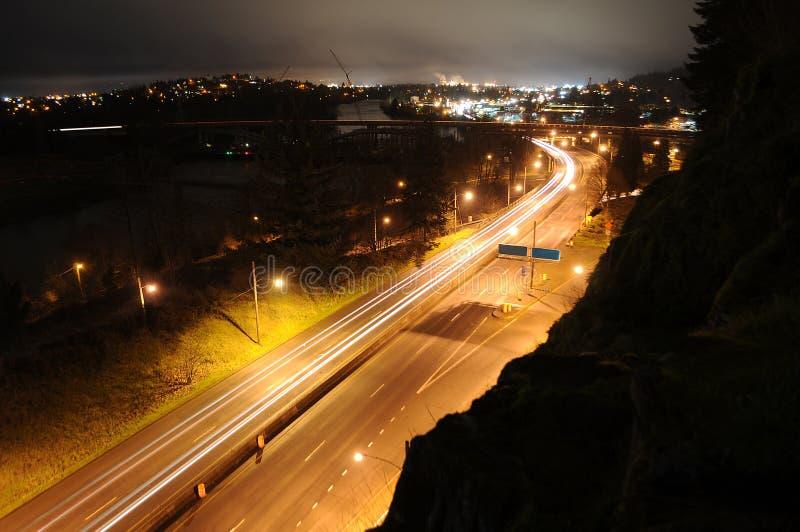 城市夜间业务量 库存照片